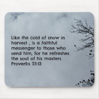 Proverbs 25:13 Like the cold of snow... Mouse Pad
