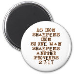 Proverbs 27:17 2 inch round magnet