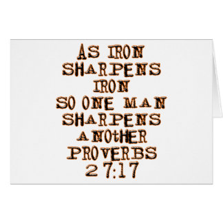 Proverbs 27:17 card