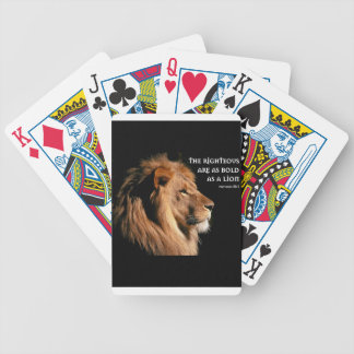 Proverbs 28:1 bicycle playing cards