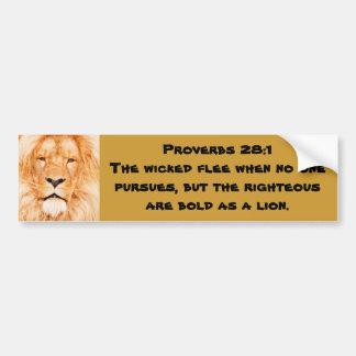 Proverbs 28:1 bumper sticker