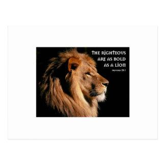 Proverbs 28:1 postcard