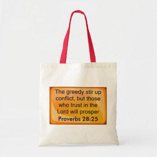 proverbs 28:25 bags