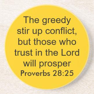 proverbs 28:25 coaster
