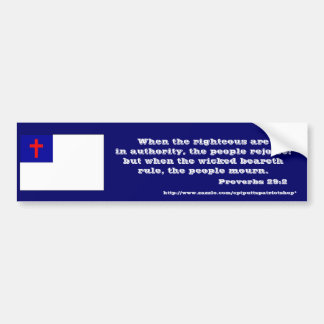 Proverbs 29:2 bumper sticker