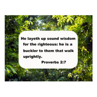 Proverbs 2:7 postcard