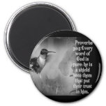 Proverbs 30:5 BIBLE SCRIPTURE with Hummingbird Fridge Magnets
