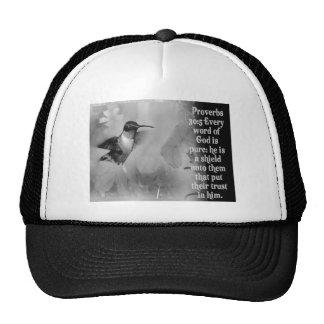 Proverbs 30:5 BIBLE SCRIPTURE with Hummingbird Trucker Hat