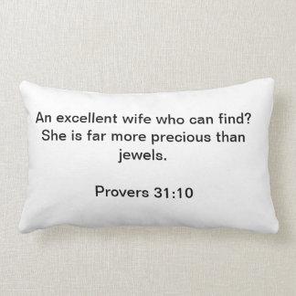 Proverbs 31:10 pillow
