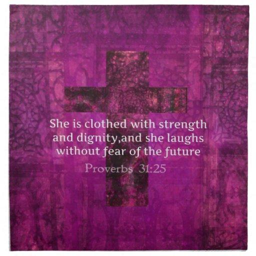 Uplifting Bible Verses For Women Proverbs 31:25 Inspira...
