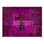 Proverbs 31:25 Inspirational Bible Verse  Women Postcard