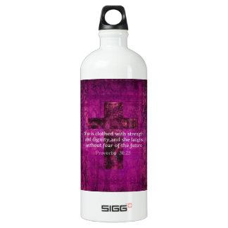 Proverbs 31:25 Inspirational Bible Verse  Women Water Bottle