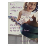 Proverbs 31:25 notecard stationery note card