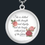 "Proverbs 31:25 silver plated necklace<br><div class=""desc"">a gorgeous necklace for yourself or a gift</div>"
