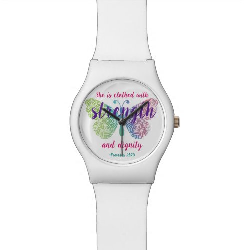 Proverbs 31:25 Watch
