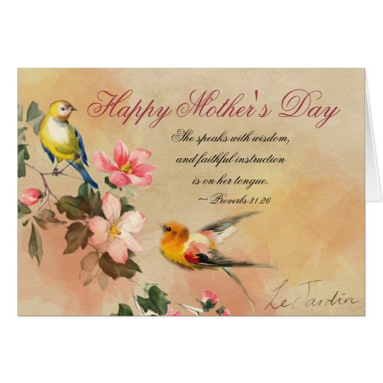 Happy Mother S Day Religious Quotes: Proverbs 31:26, Bible Verse, Mother's Day Card