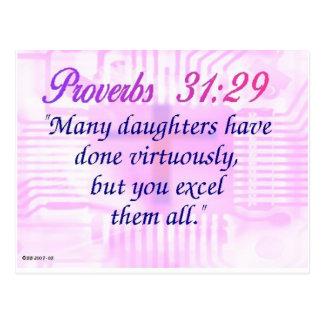 Proverbs 31:29 postcard