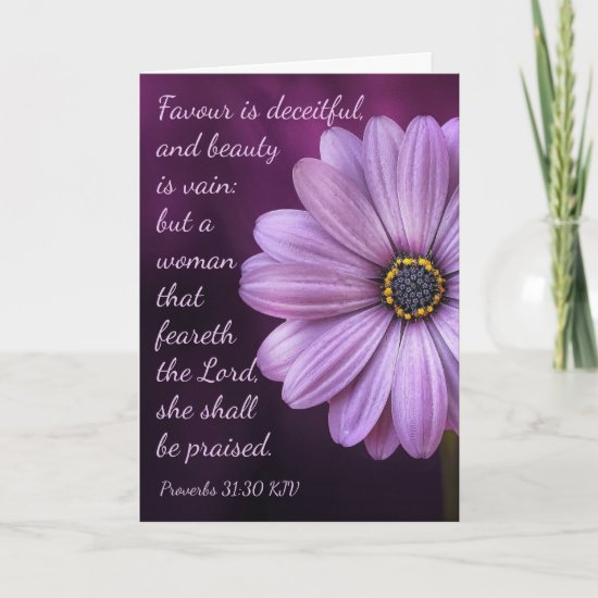 Proverbs 31:30 - A woman that feareth the LORD Card