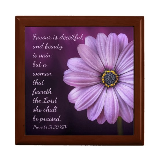Proverbs 31:30 - A woman that feareth the LORD Gift Box