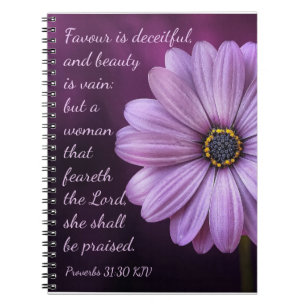 a21bed5c4d9 Proverbs 31 30 - A woman that feareth the LORD Notebook