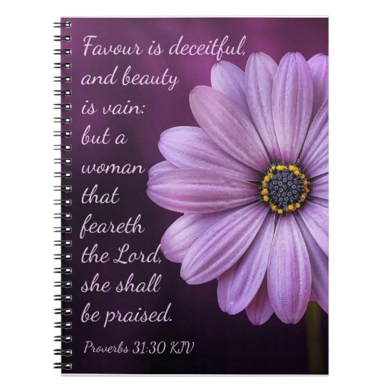 Proverbs 31:30 - A woman that feareth the LORD Notebook