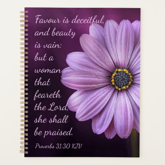 Proverbs 31:30 - A woman that feareth the Lord Planner
