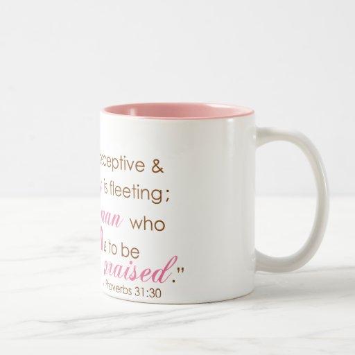 Proverbs 31:30 coffee mug