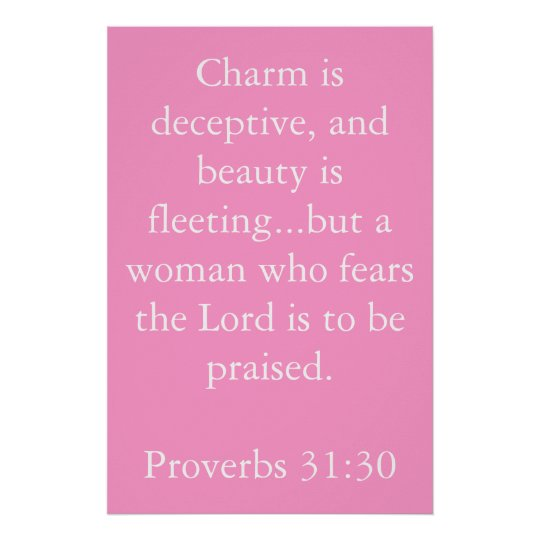 Proverbs 31:30 poster