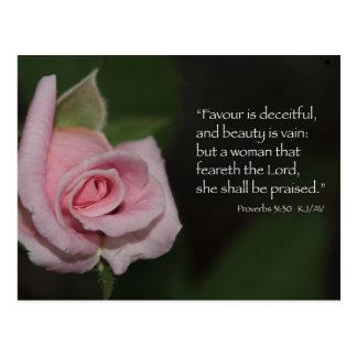 Proverbs 31:30 Scripture Postcard