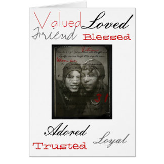 Proverbs 31 African American Woman Card
