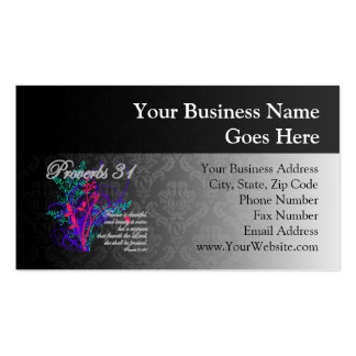 Proverbs 31 Bible Christian Women's Double-Sided Standard Business Cards (Pack Of 100)