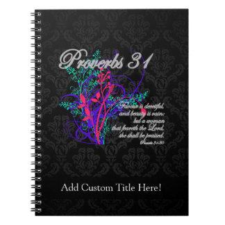 Proverbs 31 Bible Christian Women's Spiral Notebook