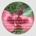 Proverbs 31 Collection Classic Round Sticker