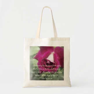 Proverbs 31 Collection ~ Pro 31:11-12 Tote Bag