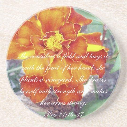 Proverbs 31 Collection ~Pro 31:16-17 Coaster
