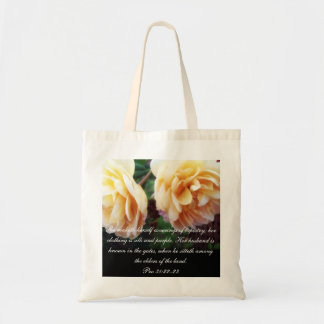 Proverbs 31 Collection ~ Pro 31:22-23 Tote Bag