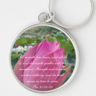 Proverbs 31 Collection ~ Pro 31:24-25 Keychain