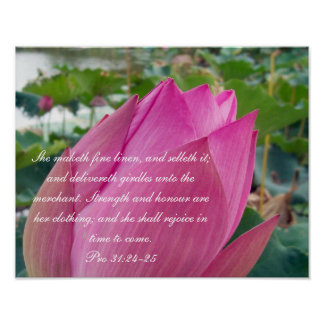 Proverbs 31 Collection~ Pro 31:24-25 Poster