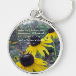 Proverbs 31 Collection ~ Pro 31:26-27 Keychain