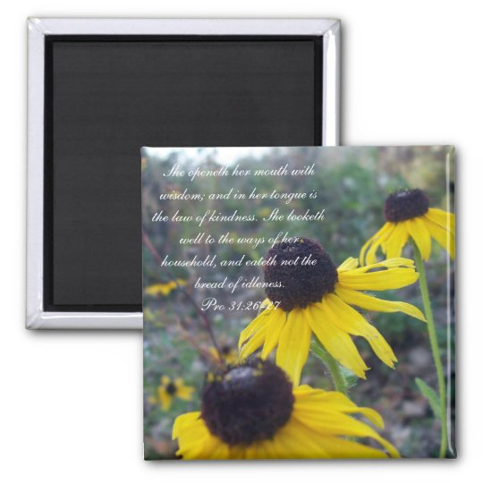 Proverbs 31 Collection ~ Pro 31:26-27 Magnet