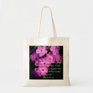 Proverbs 31 Collection ~ Pro 31:28-29 Tote Bag