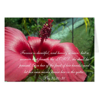 Proverbs 31 Collection ~ Pro 31:30-31 Card