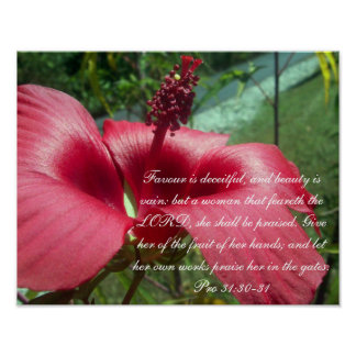 Proverbs 31 Collection ~ Pro 31: 30-31 Poster