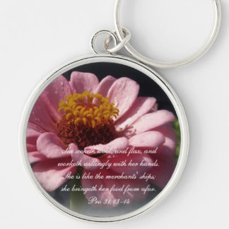 Proverbs 31 Collection ~ Proverbs 31:13-14 Keychain