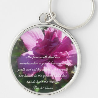 Proverbs 31 Collection ~ Proverbs 31: 18-19 Keychain