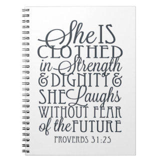 Proverbs 31 Gifts - Clothed in Strength & Dignity Notebook
