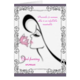 Proverbs 31 Woman Greeting Card