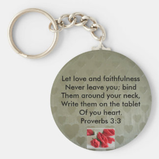 Proverbs 3:3 basic round button keychain