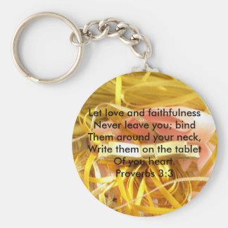 Proverbs 3:3 keychain