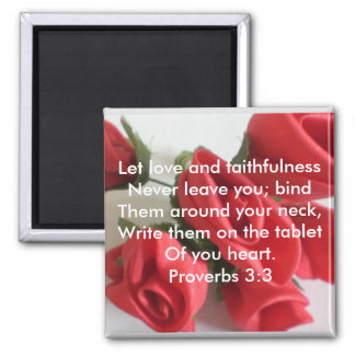 Proverbs 3:3 magnet